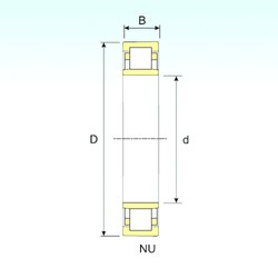 150 mm x 225 mm x 35 mm  ISB NU 1030 cylindrical roller bearings