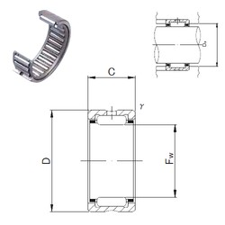 JNS RNA 6905 needle roller bearings