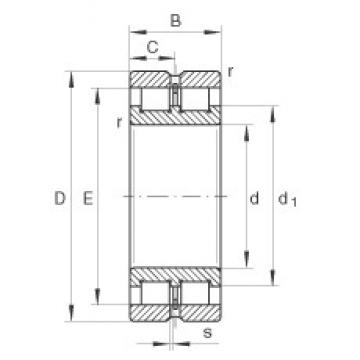 140 mm x 190 mm x 50 mm  INA SL024928 cylindrical roller bearings