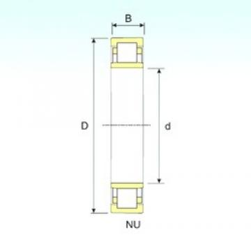 35 mm x 100 mm x 25 mm  ISB NU 407 cylindrical roller bearings
