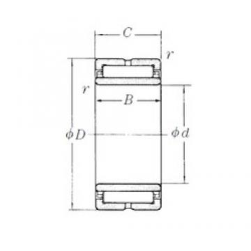 140 mm x 190 mm x 50 mm  NSK NA4928 needle roller bearings