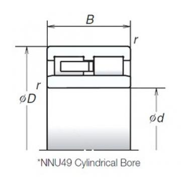 130 mm x 180 mm x 50 mm  NSK NNU4926MB cylindrical roller bearings