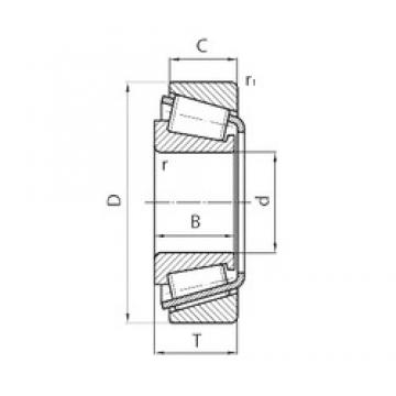 40 mm x 68 mm x 19 mm  CYSD 32008 tapered roller bearings