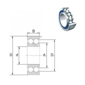 45 mm x 85 mm x 30,2 mm  ZEN 3209-2RS angular contact ball bearings