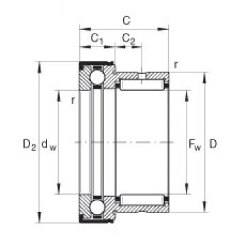 INA NKX30-Z complex bearings