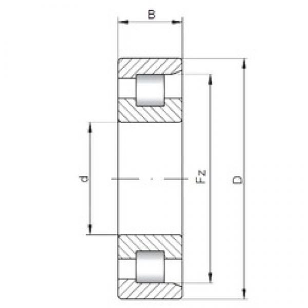 65 mm x 160 mm x 37 mm  ISO NF413 cylindrical roller bearings #1 image