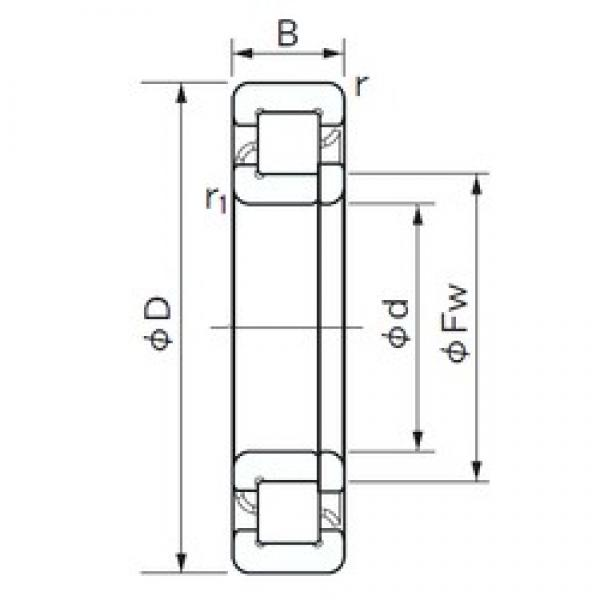 65 mm x 100 mm x 18 mm  NACHI NUP 1013 cylindrical roller bearings #1 image