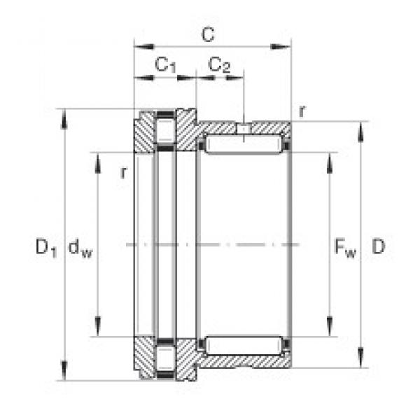 INA NKXR30 complex bearings #1 image